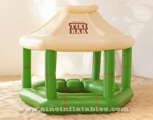 piscina inflable flotante tiki bar