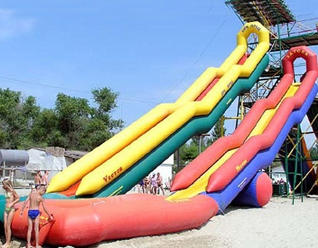 high tower sharp inflatable water slide