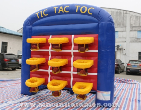 9 basketballs inflatable TIC TAC TOE game