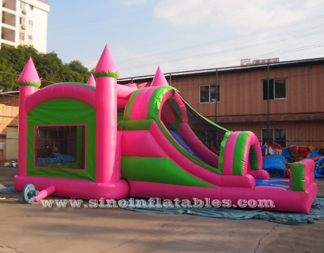 kids inflatable unicorn bounce house with slide