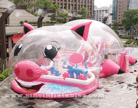 indoor giant pink pig inflatable theme fun park