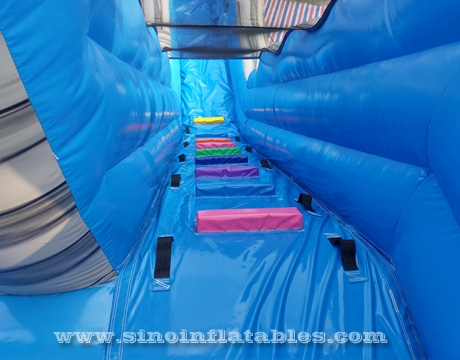 commercial kids party inflatable water slide with big pool