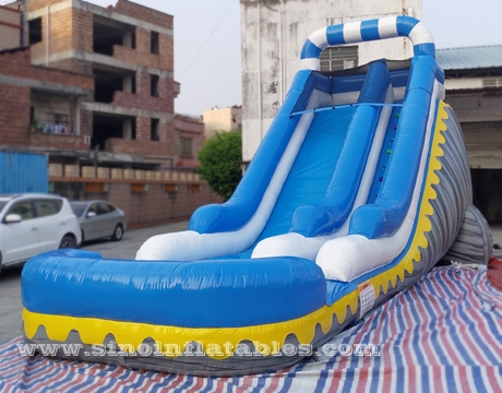 kids party inflatable water slide with pool