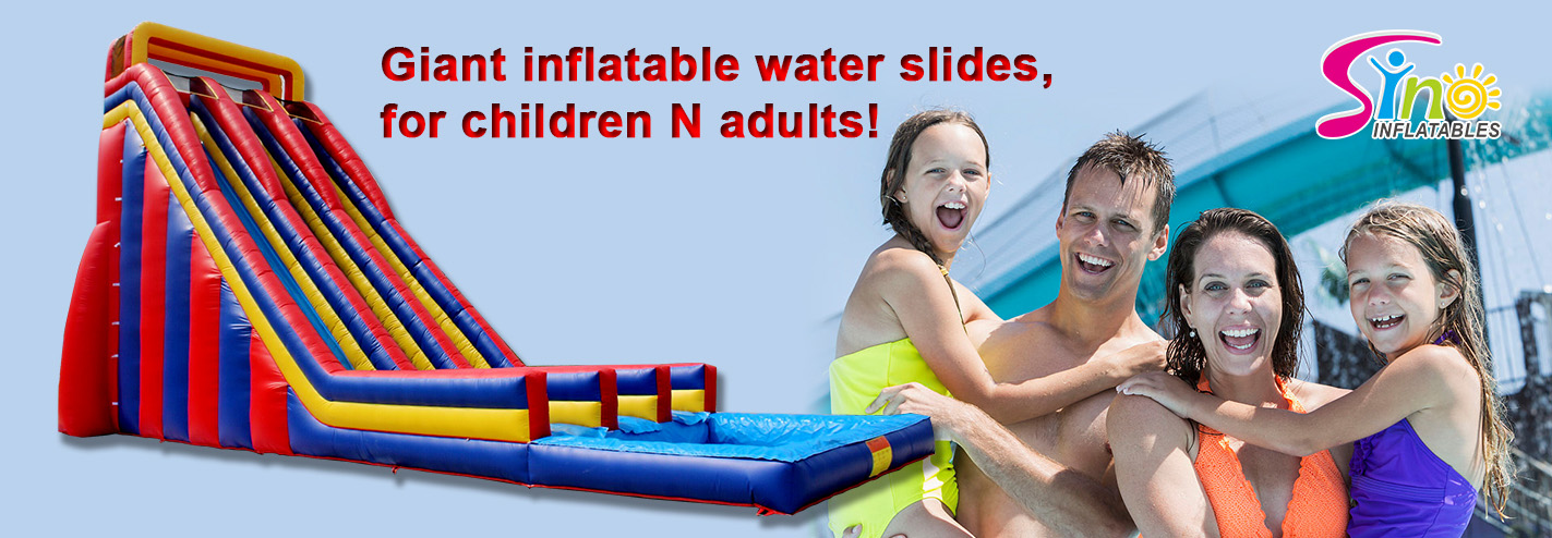 Not only a 10m high giant inflatable water slide for adults, but a fun maker!